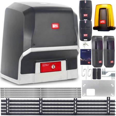 ZESTAW BFT ARES ULTRA BT A1000 2x PILOT 5x LISTWA LAMPA 1000KG