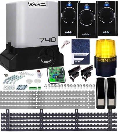 Zestaw Delta2 FAAC 740 3xPilot 868 5xListwa LAMPA