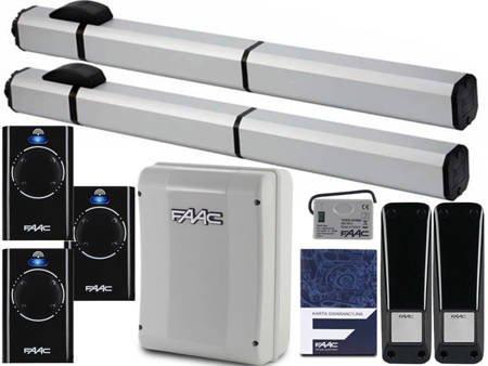 Zestaw do bram Faac S450H CBAC 3 xPILOT LAMPA XLED